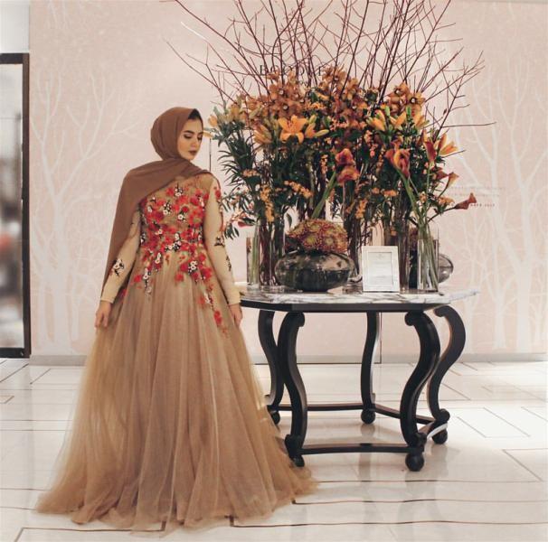 بالصور صور فساتين سهرة 2019 , اجمل ازياء فستان سهرة للمحجبة 4278 4