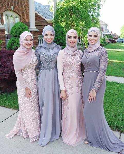 بالصور صور فساتين سهرة 2019 , اجمل ازياء فستان سهرة للمحجبة 4278 5
