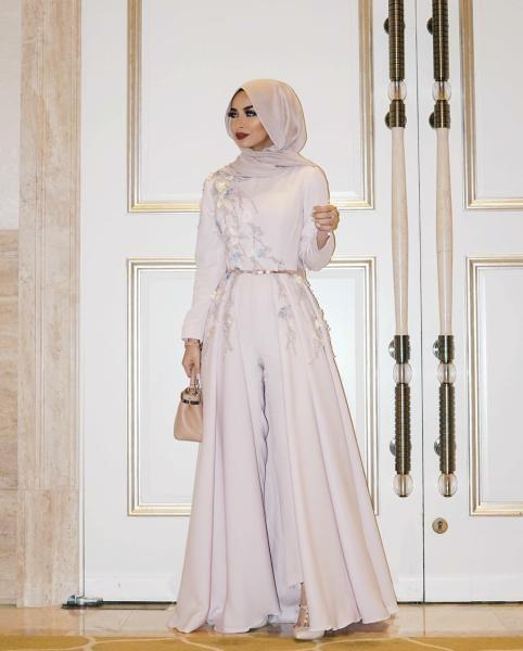 بالصور صور فساتين سهرة 2019 , اجمل ازياء فستان سهرة للمحجبة 4278 6