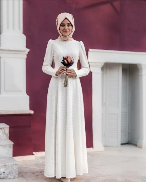 بالصور صور فساتين سهرة 2019 , اجمل ازياء فستان سهرة للمحجبة 4278 7