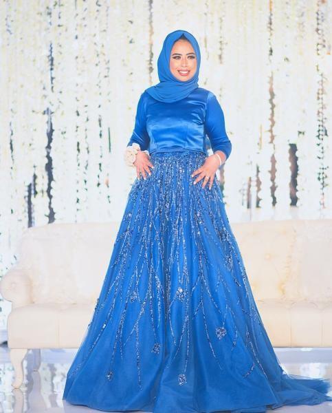 بالصور صور فساتين سهرة 2019 , اجمل ازياء فستان سهرة للمحجبة 4278 8