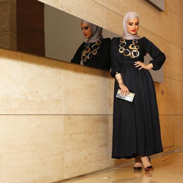 بالصور صور فساتين سهرة 2019 , اجمل ازياء فستان سهرة للمحجبة 4278 9