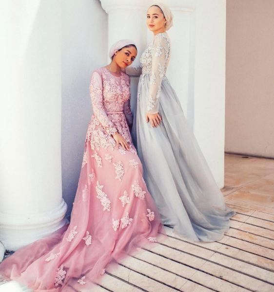 بالصور صور فساتين سهرة 2019 , اجمل ازياء فستان سهرة للمحجبة 4278