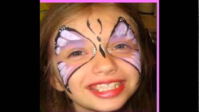 صور رسم على الوجه بسيط للاطفال , صور اجمل رسوم بسيطة بالالوان علي وجوه الاطفال