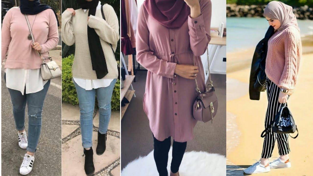صور ملابس محجبات على الموضة , احلي و اشيك ملابس للمحجبات علي الموضه