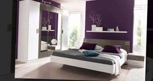 صورة ديكورات غرف نوم باللون البنفسجي والرمادي , اجمل و ارقي ديكورات غرف النوم