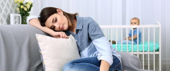 صورة اعراض اكتئاب النفاس , اكتئاب ما بعد الولاده للام