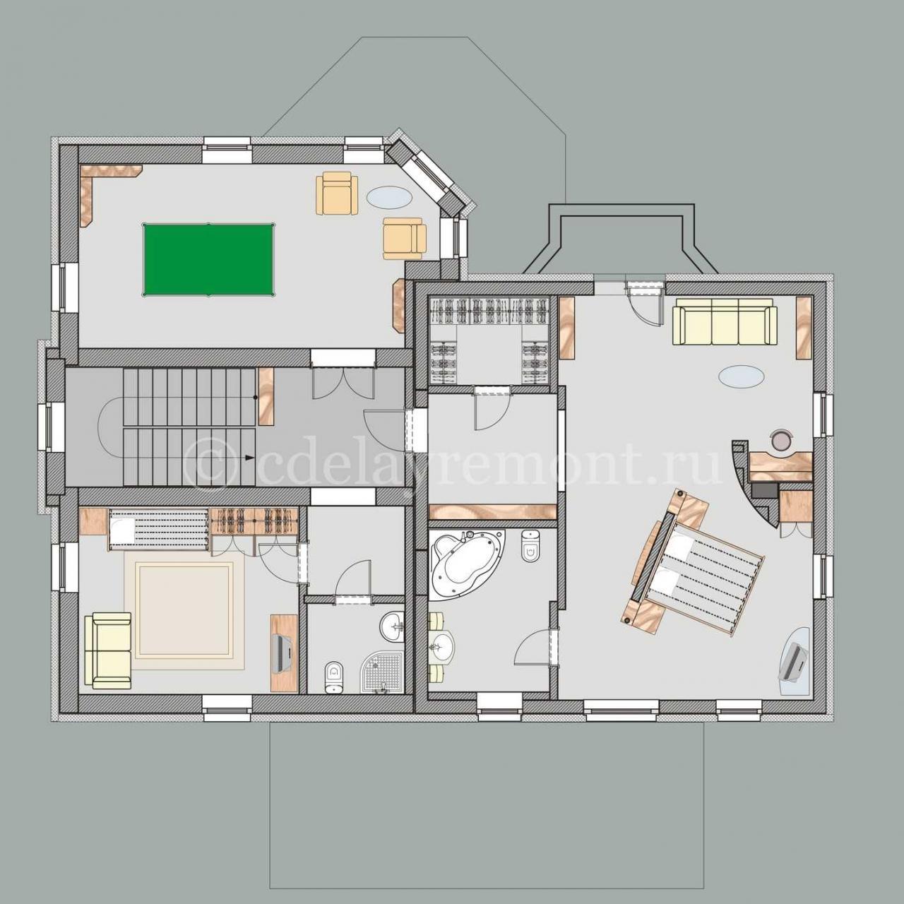 صورة تصميم منزل على مساحة 80 متر , تقسيم شقة 80 متر