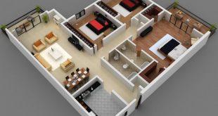صور تصميم منزل على مساحة 80 متر , تقسيم شقة 80 متر