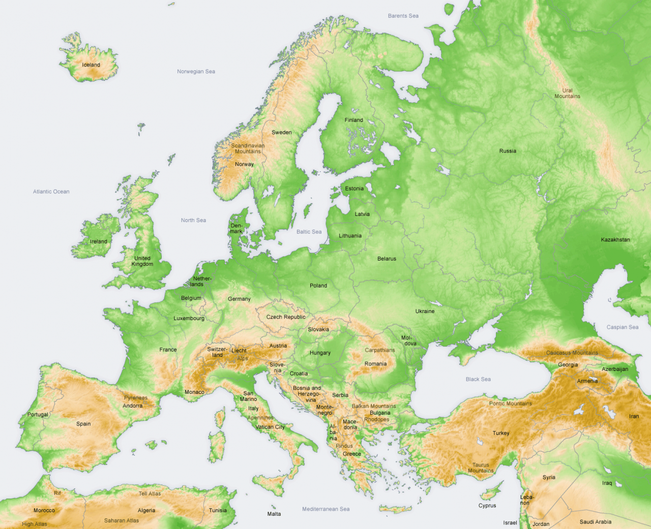 صورة خريطة اوروبا بالعربية , تعرف على خريطة اوروبا