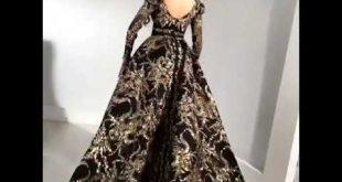 صورة فساتين سحر الشرق 2020 , اخر صيحات الفساتين الجديدة