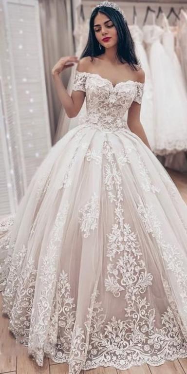 صورة اجمل فستان زفاف , كوني عروسه مميزه